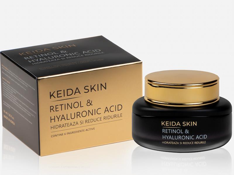 Crema Antirid Keida Skin cu retinol si acid hialuronic
